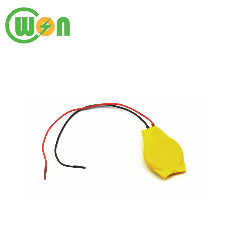 3V 75mAh Lithium Battery CR2016 with Leads CR2016 Button Cell Battery with Wires