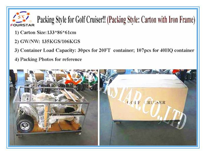 1000w Electric Powered Golf Cart CE certification