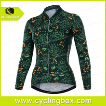 2016 Cbox sublimated custom design digital printing long sleeve cycling jersey for women