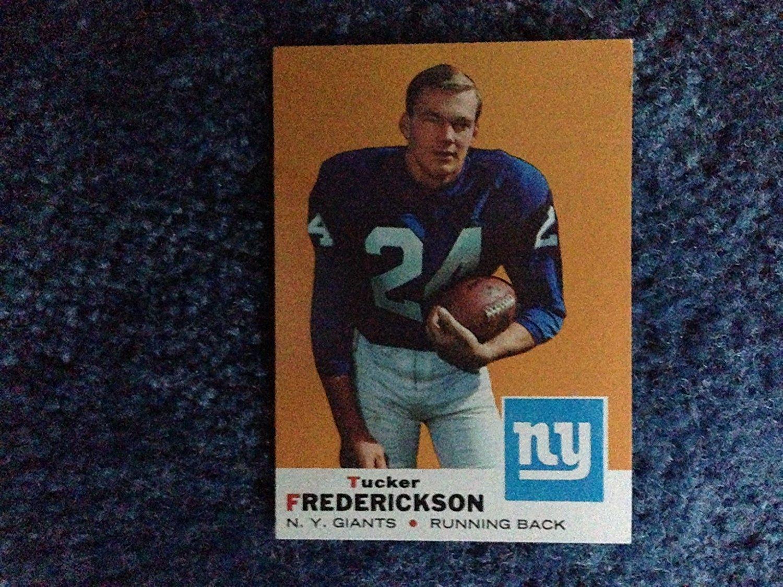 1969 Topps Football Tucker Frederickson (Running Back) Card # 15! New York Giants, 1st Round Draft Selection