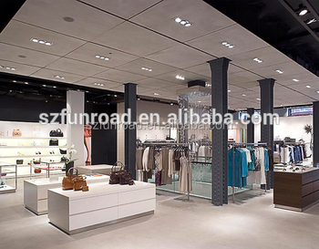 Modern Retail Clothing Store Fixtures For Clothes Display