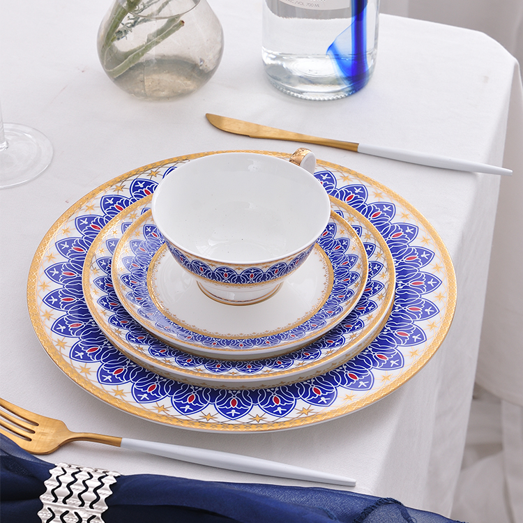 china supplier beautiful decal bone china dinner set good design ceramic dinnerware table set