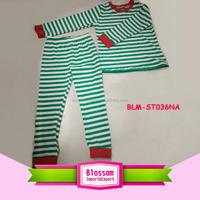 Children frocks designs Infant Toddler Boys Girls Stripes Two Piece Sleepwear Nightwear Pajamas Set