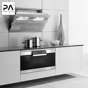 Disesuaikan Modern Lacquer Mdf Melamin Modular Kabinet Dapur Desain Kecil Putih