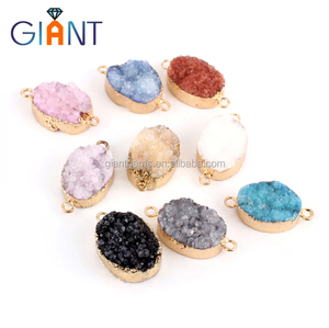 Hot gems cheap price loose druzy agate stone wholesale for jewelry making