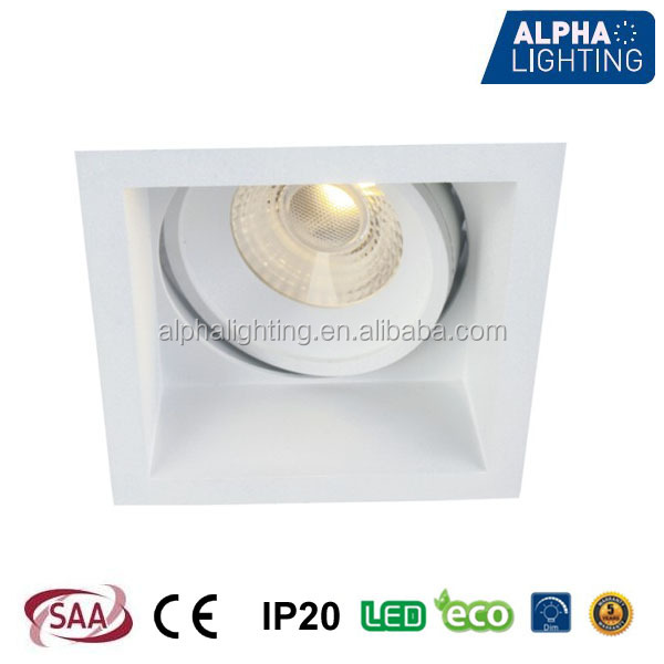 Europe lattest design 10w led square downlight dimmable, citizen cob led downlight review