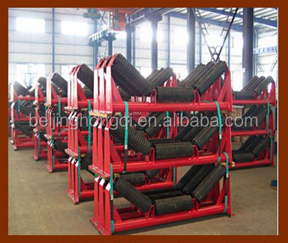 Conveyor troughing rubber idler roller for mining industry