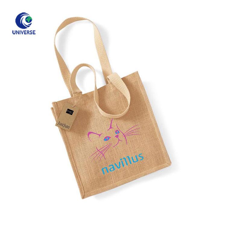 Wiederverwendbare Nachhaltige Faltbare Organische Luffed Frauen Tragbare Leinwand Tote Einkaufstasche mit Gedruckt Logo