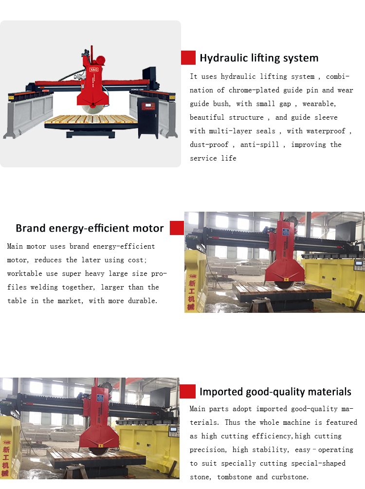 Bridge stone cutting machine marble stone machinery
