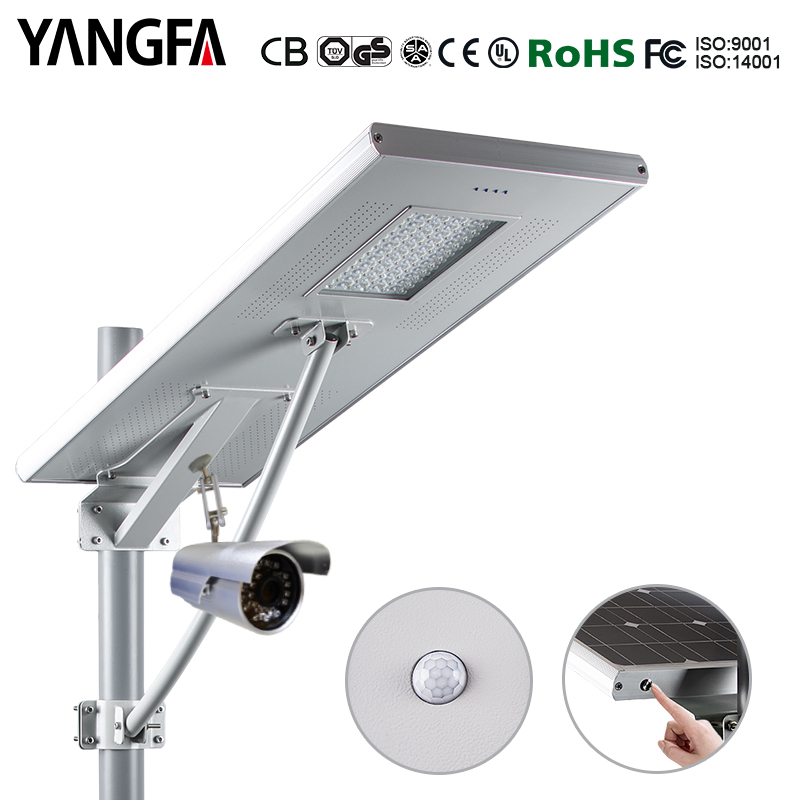high qulity outdoor used for all in one solar street light cctv camera