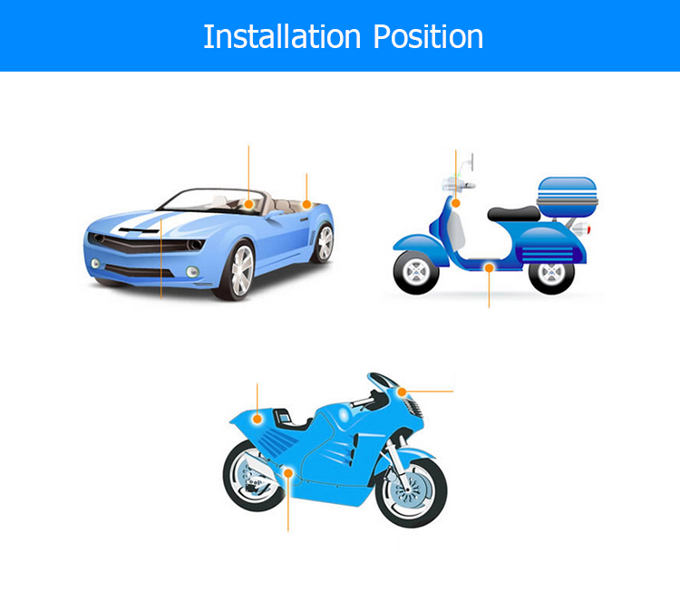 Online gps tracking 2G GSM band 850 900 1800 1900Mhz motorcycle gps tracker GT06