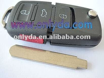 Modified VW style flip remote -----HNA HNA 7th generation 3+1 remote key with 434mhz (without chip)