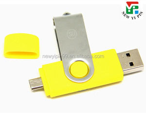 Cheap Rotation Swivel plastic bulk 1gb OTG USB flash drive for phone