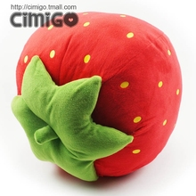 Super big strawberry cartoon pillow cushion plush toy fruit doll 40cm t0939
