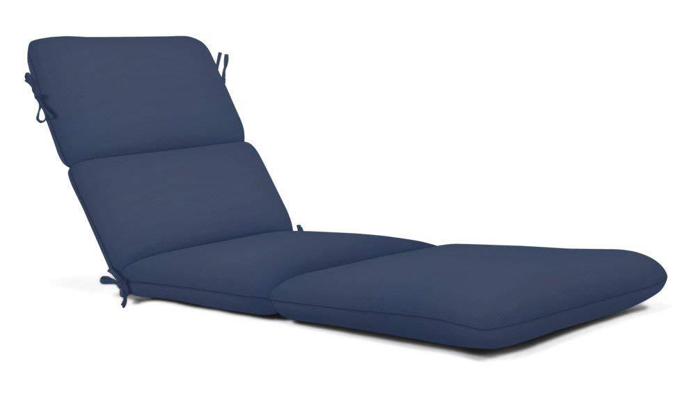 Get Quotations · Strathwood AZ2315 3012 Sunbrella Canvas Outdoor Chaise  Lounge Cushion, Large, Navy Blue