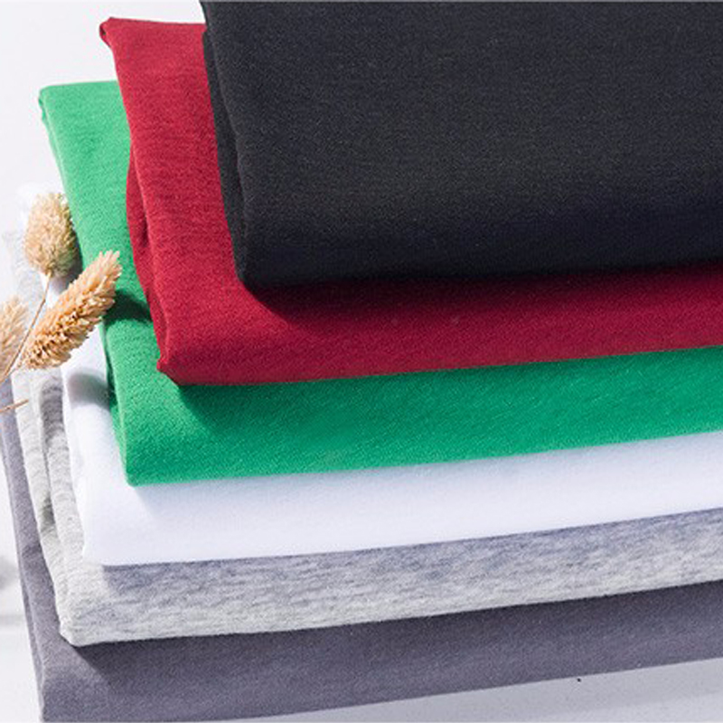 100% combed cotton single jersey knit t-shirt fabric for children clothing