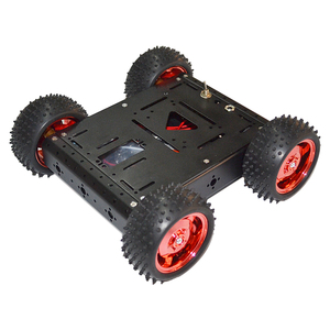 1.5KG Red load-bearing aluminum alloy car-body 4WD smart car chassis off-road driving robot