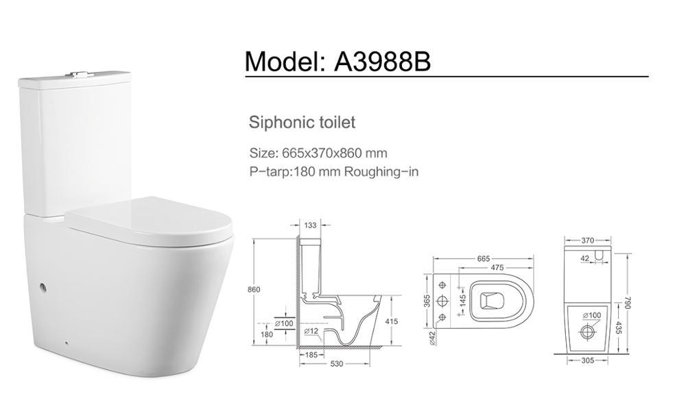 bathroom high quality ceramic two pieces toilet suite