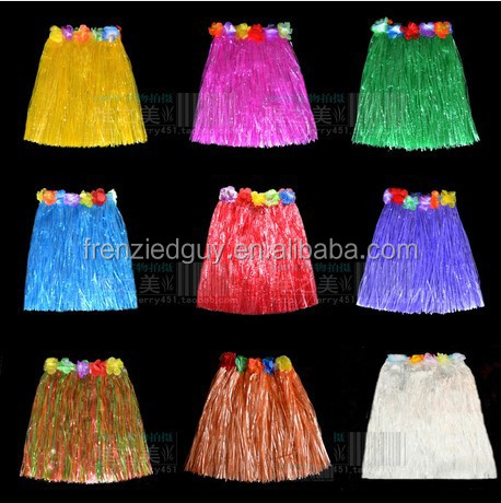 hawaii dresses raffia hula skirt