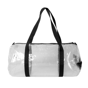Portable waterproof foldable clear plastic duffle bag