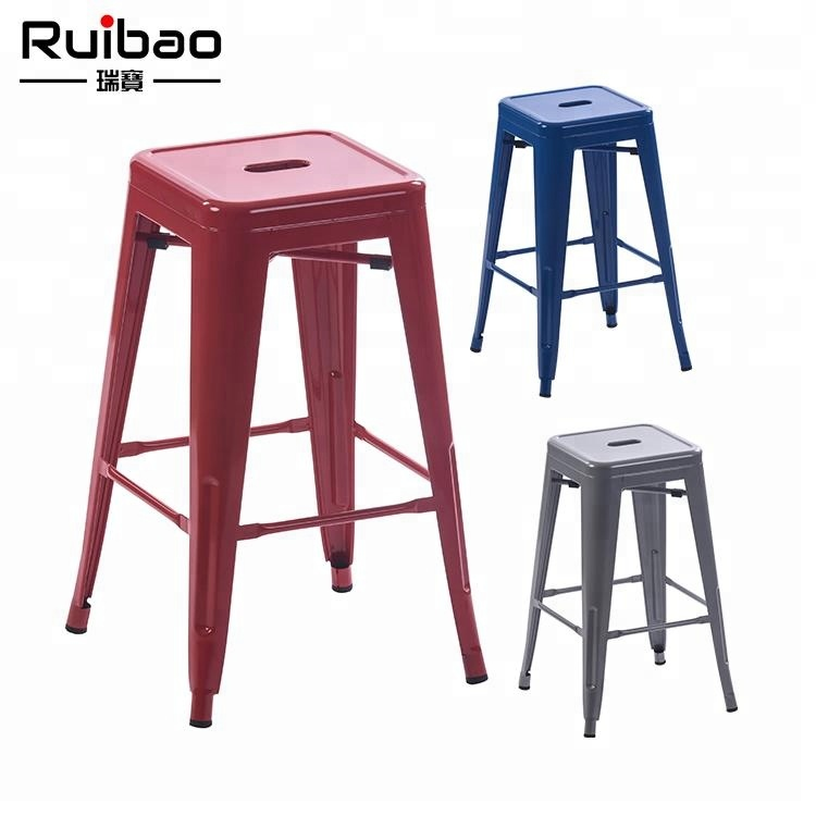 New Products Bar Stool Metal Chair Vintage Industrial Metal Side Chair