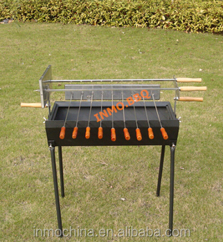 Black Cyprus grill spit with small skewers