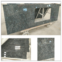 Blue pearl granite bathroom vanity tops with rectangular sink