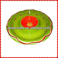 Lovely ceramic chip and dip tray for sale