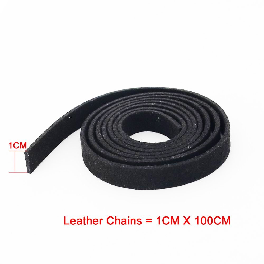 10PCS/pack 1CM *100CM/3.28Feet Velvet Leather Cord for Bracelet Necklace Making Cord handmade Jewelry Fittings Wholesale