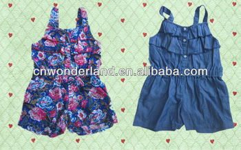 d6de75c1007f little girls denim overall jeans short playsuits trendy baby jumpsuits  children s jumpsuits kids romper