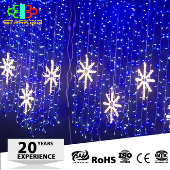 energy saving high brightness christmas festival twinkling led decoration curtain light