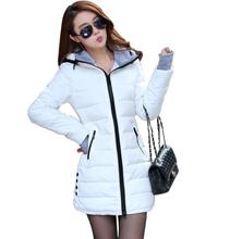Wadded Jackets 2016 Female New Women's Winter Down Jacket Cotton Slim Women Down Parka Ladies Coat plus size M-XXXL A020