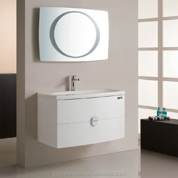 High End Bathroom Furniture Wash Basin Mirror Cabinet With Led