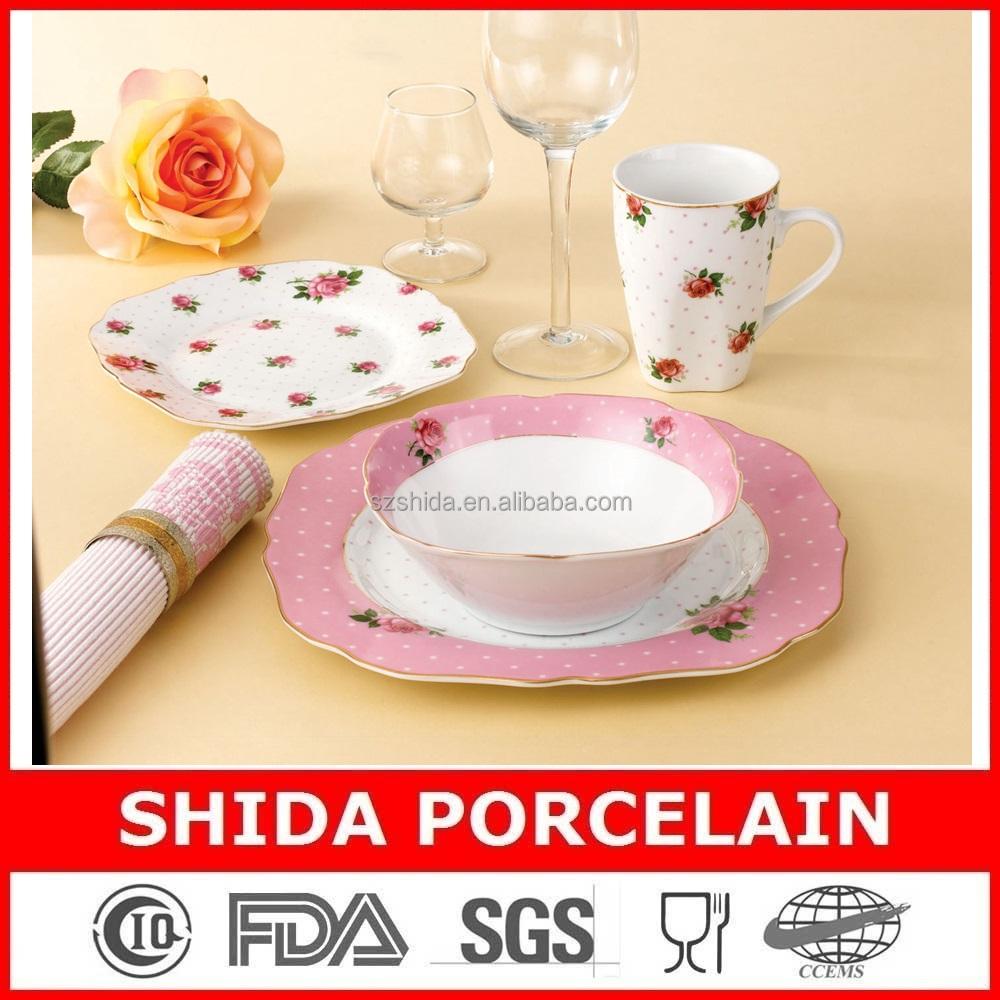 Porcelain Dinner Plates 16pcs Dinner Ware Set Square Cut Edge Shape Dinnerware Set Gold Design Dinnerware Set Sdg3058 - Buy Porcelain Dinner Plates ...  sc 1 st  Alibaba & Porcelain Dinner Plates 16pcs Dinner Ware Set Square Cut Edge Shape ...