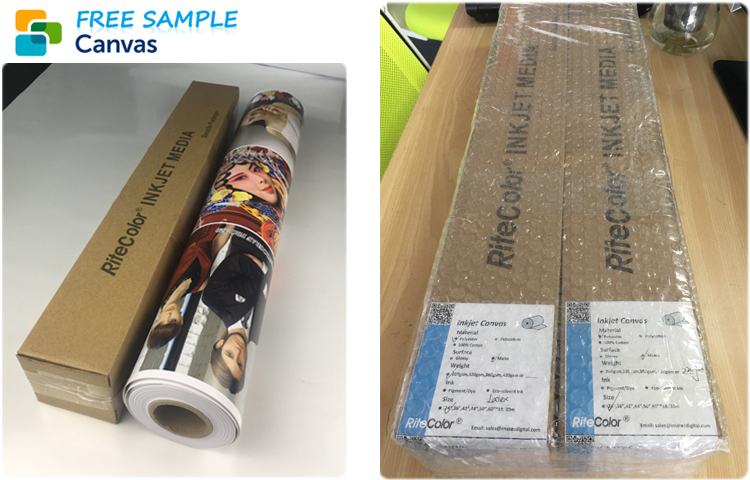 Waterbased Matte Inkjet Digital Printing Canvas Roll for Painting 260gsm 280gsm 360gsm