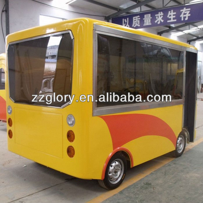 Bus Type Electric Driven Source Mobile Food Cart