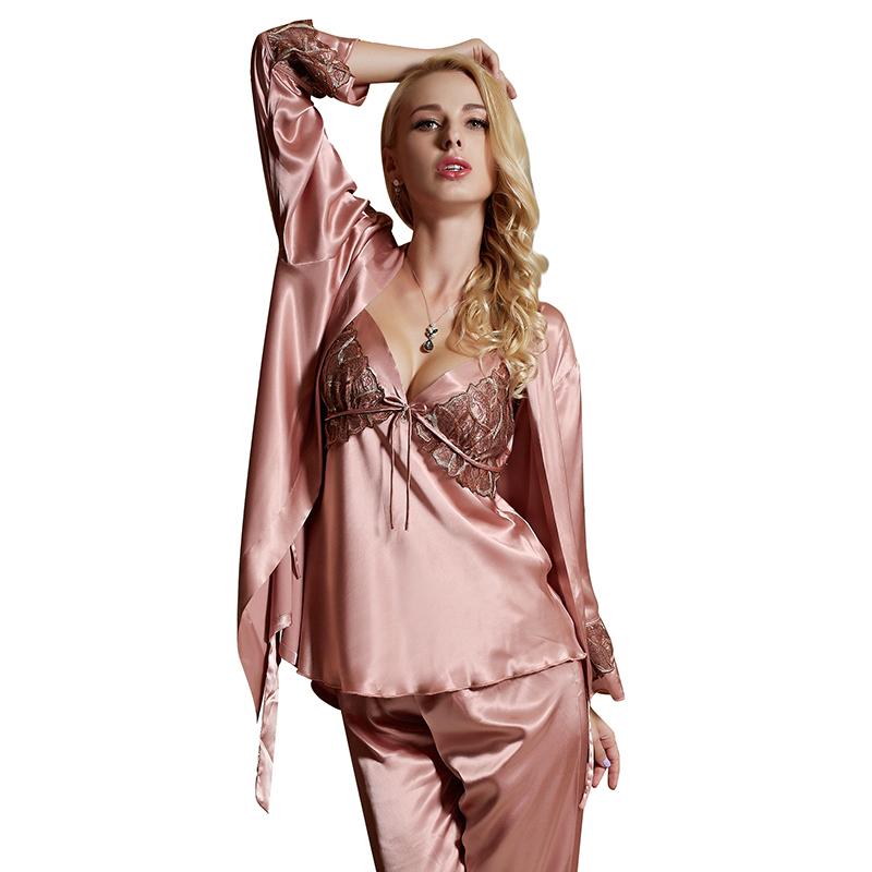 ec1980d7a13 Get Quotations · pajamas set for women new 2015 home clothing sexy satin  sleep lounge pijama women s pyjama pajama