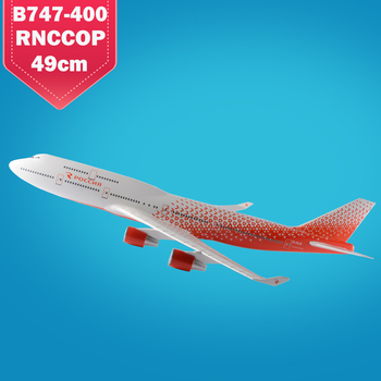 Rossiya Airlines Boeing B747-400 scale 1:160 47cm plane model business gift