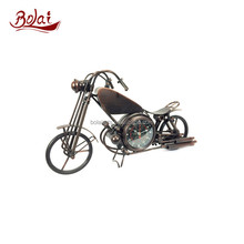 Exquisite metal material perfect details motorcycle shape clock sales promotion gift