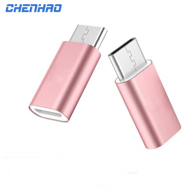 Metal shell data charger female type-C to male micro usb otg adapter