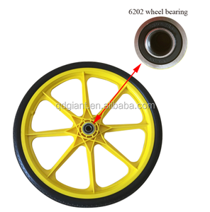 20in pu wheel for tool cart with 6202 bearing