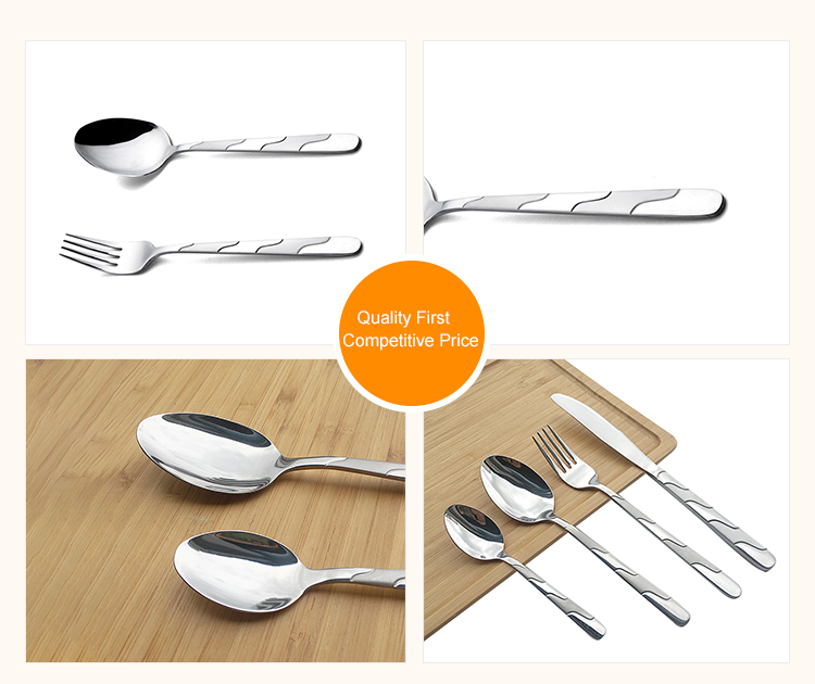 Jieyang factory 18/10 stainless steel cutlery,steak knife and fork spoon