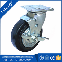 Durable Food Industry Heavy Duty Caster,10 Inch Swivel Plate Pu Foam Tire ,swivel brake pu medical castor