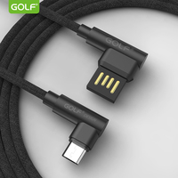 Double Angle Nylon Braid fast charging 90 degree elbow usb cable