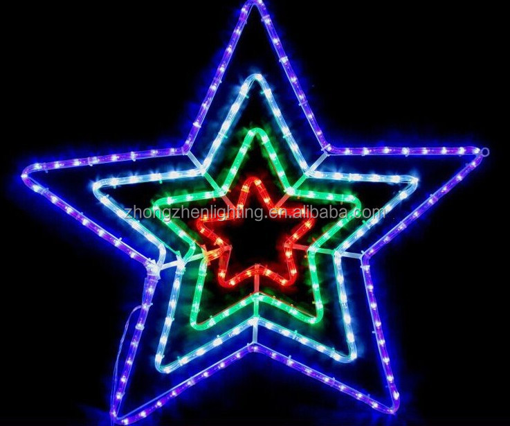 30 Blue And White Outdoor Led Rope Light Christmas Star Of Bethlehem