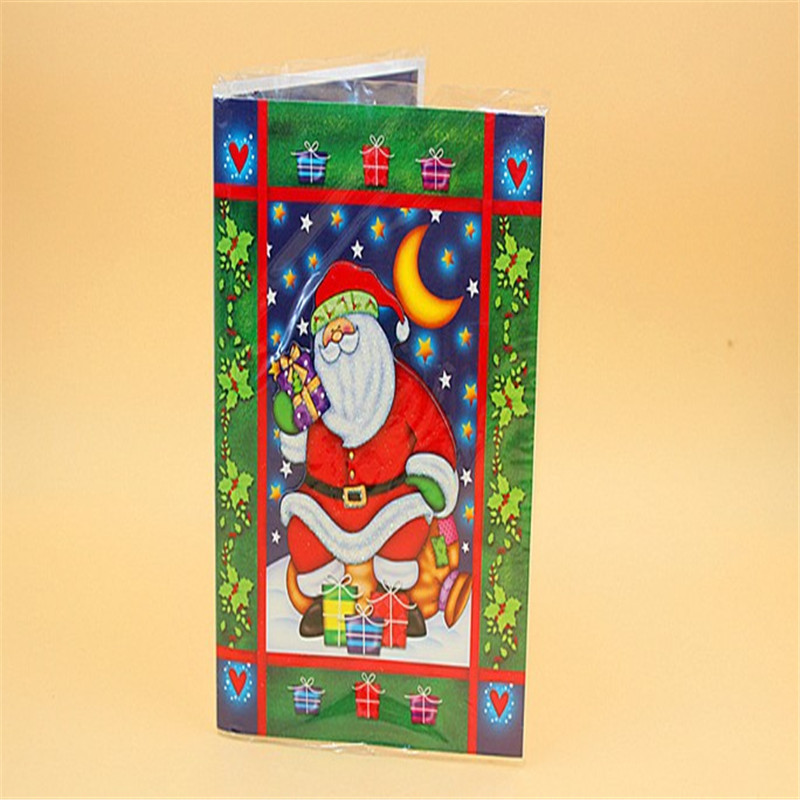 Oempromo hot selling musical merry christmas greeting cards