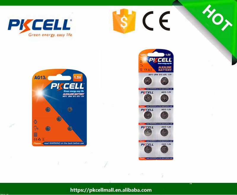 10pc AG13/LR44/A76/303 Alkaline Button Cell Battery PKcell