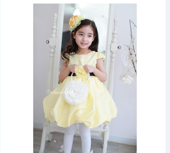 42477f338 Cheap Girls Yellow Party Dress