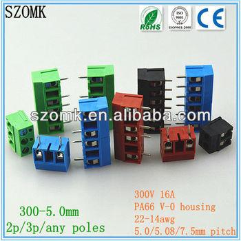 Ak300-5.0mm Plastic Connector Terminal Block