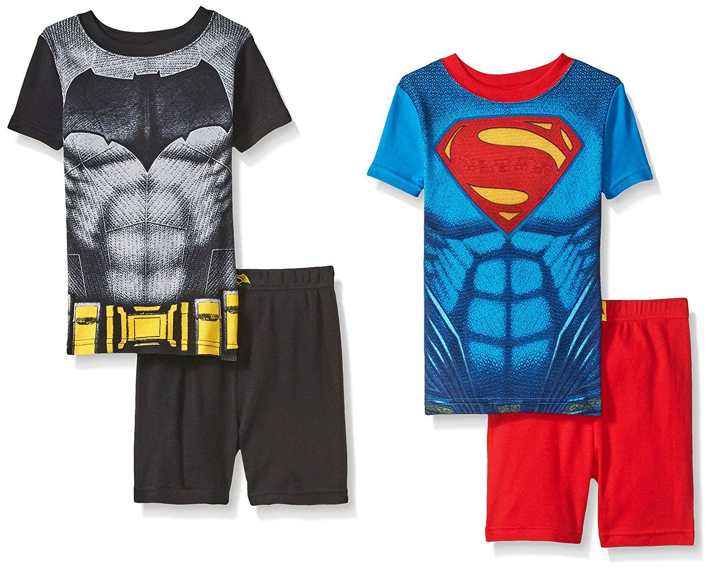 97bcd29f34c2e Get Quotations · Justice League Boys' Batman Vs Superman 4 Piece Cotton  Short Set